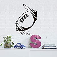 Unique Bedroom Decoration Spinning Rugby Ball Wall Sticker Vinyl Removable Home Decor Self Adhesive Rugby Pattern Sticker 58x82cm