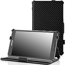 MoKo Samsung Galaxy Tab 4 7.0 / Tab 4 Nook 7 2014 Funda - Slim-Fit Multi-Angle Folio Funda para Samsung GALAXY Tab 4 7.0 Pulgadas Tableta, Genuino Cuero NEGRO (NO va a caber el Tab 3 7.0)