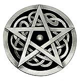 Keltischer Knoten & Pentagramm Gürtelschnalle in Schwarz - Authentische Dragon Designs Markenprodukt