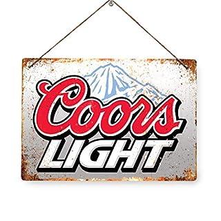 COORS LIGHT - Replica Vintage Metal Wall Sign Retro Pub Bar Ale Mancave (28x20cm TWINE/STRING)