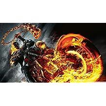 Ghost Rider Spirit of Vengeance (25inch x 14inch / 62cm x 35cm) Silk Print Poster - Silk Printing - 0F5246