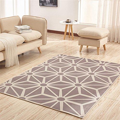 Preisvergleich Produktbild LH-RUG Hochwertige Super Soft Decke Modern Einfache Rechtwinklige Teppich Wohnzimmer Sofa Couchtisch Eingangshalle Schlafzimmer Nachttisch Teppich Grau Nordic Designer Anti-Rutsch- Nicht reizende ( größe : 1.4*2M )