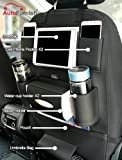 #7: Autofurnish PU Leather 3D Car Back Seat Multi Pocket Storage Organizer Holder (Black)