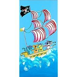 "Lienzo infantil ""Pirate boat"" de Farbklecks, 90 x 180 cm."