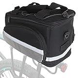 Case4Life Wasserdicht Groß Hintere Fahrradtasche Mountainbike MTB/Rennrad Fahrrad Gepäckträger Entfernbar Schulterriemen + Mehrere Taschen