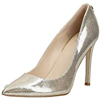 GUESS Crew Women's Pumps, Gold (Gold/Multicolor Texture GOMTX), 38 EU