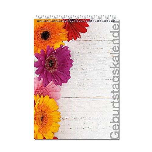 Preisvergleich Produktbild Geburtstagskalender mit Spiralbindung | DIN A5 | Art. Nr. print_016 |Geburtstagsplaner | Jahresunabhänigig | Planer mit Sternzeichen