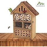 Gardigo 90562 - Casetta Vari-Insetti; Hotel, Rifugio Api Farfalle Coccinella Vespe; Facile da Appendere; Casa Legno Naturale Certificato FSC