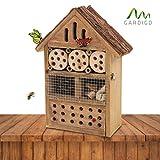 Gardigo Insektenhotel | Nistkasten für Bienen, Schmetterlinge, Marienkäufer | Insektenhaus aus Holz für den Garten, 29cm groß | Brutfhilfe zum Aufhängen | Deutscher Hersteller