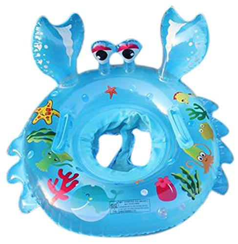 Lukis Baby Kleinkinder Krabbe Schwimmsitz Aufblasbarer Schwimmring Kinderboot 75x70cm Blau