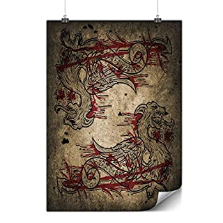 Wellcoda Dragon Beast Asia Poster Great A4 (30cm x 21cm) GLOSSY Heavy Weight Paper, Easy to Hang, Ideal for Framing Art