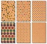 36 Stück sortiert alle Gelegenheit Grußkarten - blanko Kraft Polka Dot Sortiment - Bulk Box Set mit Umschläge enthalten - 6 Designs - 10,2 x 15,2 cm