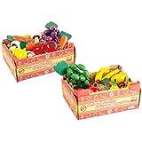 Small Foot Company - 9843 - Jeu D'imitation - Commerçant - Fruits Et Légumes En Bois