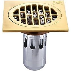 GF- Edelstahl-Gitterabdeckung Bad Dusche Waschmaschine Ablass Tee Dick All-Kupferkern Deodorant Bodenablauf Großhandel