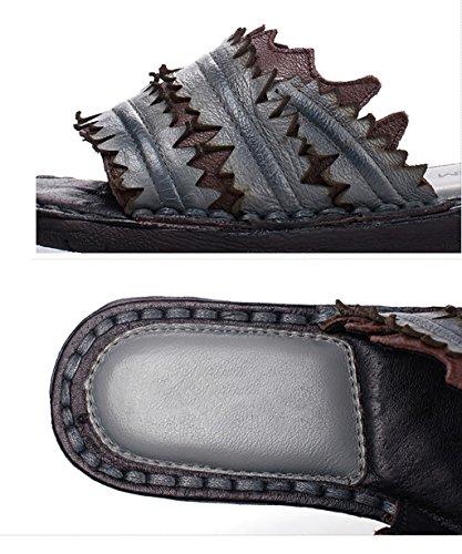 CHAOXIANG Pantofole Da Donna Antiscivolo Con tacco Ciabatte Piatte Sandali Da Surf Nuova Estate Ciabatte Spiaggia ( Colore : Grigio , dimensioni : EU39/UK6/CN40 ) Grigio