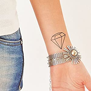 Diamant – 2 Temporäre Tattoos