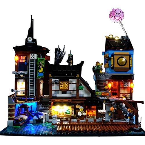 Poxl LED Beleuchtung Für Ninjago City Hafen LED Light LED Licht Kit Kompatibel Mit Lego 70657 - Lego Modell Nicht Enthalten