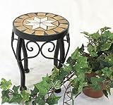 DanDiBo Sgabello fiori Merano Mosaico 12014 Porta fiori 20 cm Sgabello rotondo Tavolinetto-comodino
