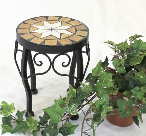 Stool Merano Mosaic 12014 Flower stand 20cm Stool round Side table