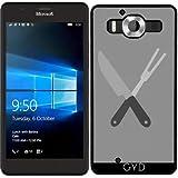 SilikonHülle für Microsoft Lumia 950 - Messer Und Gabel by ilovecotton