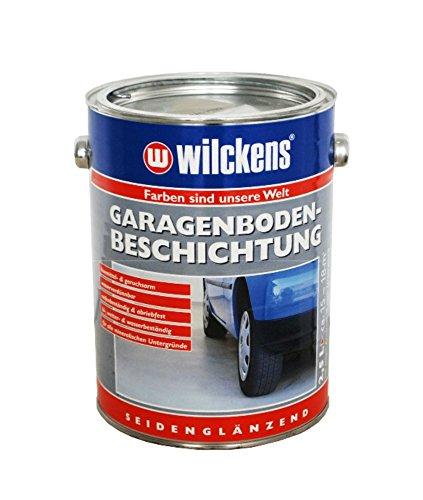 farbe garagenboden Wilckens Garagenboden-Beschichtung Seidenglänzend Silbergrau RAL 7001 2,5 L