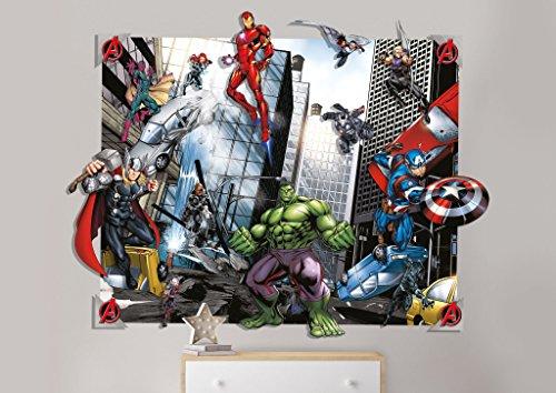 3D Wandbild 120 x 150cm AUSWAHL Kindertapete Tapete Wanddekoration Wandsticker Wandaufkleber Wandtattoo Feuerwehrman Sam Spiderman Avengers (Avengers)