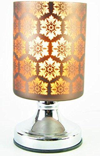 Aromaterapia vetro della lampada elettrica plug-in di tocco sensibile della luce di notte da letto Soggiorno Studio Camera di albergo Regali Decorazione , brown