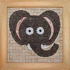 Trois petits points Mosaic Box Elephant Face-GEANT 6192459602622 - Juego de 3 Puntos, Universal