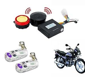 Bike Voice Assist Central Locking Alarm System Transparent Remote-Hero Splendor-pro