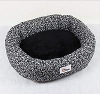 GZDXHN Dog House Tapis de Chien Lit pour Chien Creative Arrondi Imprimer Nid pour Animaux Teddy Cheveux Dorés Moyen Grand Chien Chenil