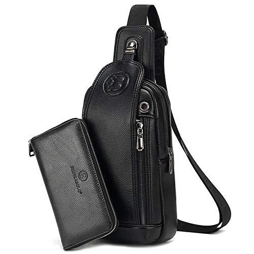 SONGYANG-Paket Lässige Umhängetasche Neue Herrenbrusttasche Lässige Diagonaltasche zum Verschicken der Brieftasche