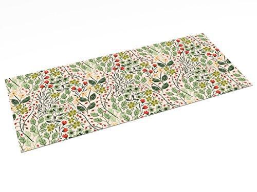 Printodecor - Alfombra Vinílica Impresa, Multicolor (Floral Country Garden), 150 x 65 cm