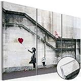 murando Modernes Acrylglasbild 120x80 cm - XXL Format - 3 Teilig - 2 Formate zur Auswahl – Glasbilder – TOP - Wand Bild - Kunstdruck -Wandbild – Bilder – i-B-0030-k-e Banksy Street Art