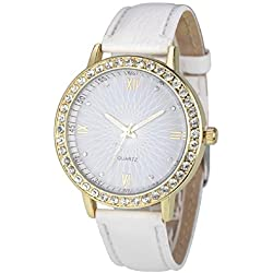 Mallom® Women Diamond Analog Wrist Watch Watches White