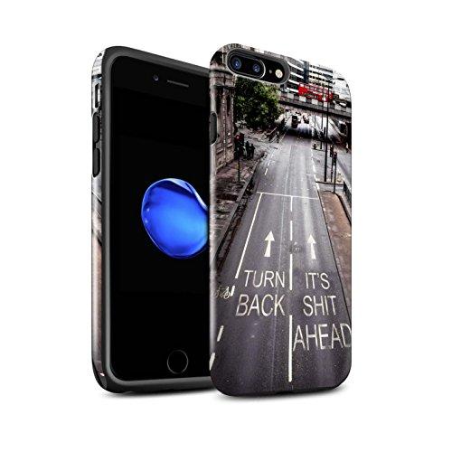 STUFF4 Glanz Harten Stoßfest Hülle / Case für Apple iPhone 7 Plus / Lust Tasse Tee Muster / Vorstellen Kollektion Umkehren
