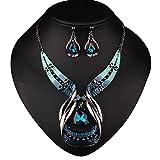 Paquet contient: 1*collier, 1*boucles d'oreillesMatériel: Alliage + strassLa broche de charme est certainement votre décoration flatteuse pour la tenue quotidienne ou de commuer, qui peut également être un cadeau merveilleux pour vos amis et votre f...