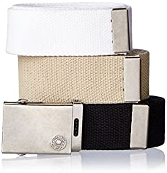Levis Mens Cut To Fit 3 Pack Web Belt With Buckle
