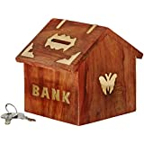 ITOS365 Handicrafted Wooden Money Bank - Coin Saving Box - Piggy Bank - Gifts for Kids, Girls, Boys & Adults