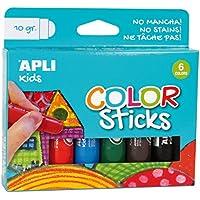 APLI Kids 14227 - Pack de 6 témpera sólida, multicolor