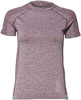 Marca Amazon - AURIQUE Camiseta Deportiva sin Costuras Mujer