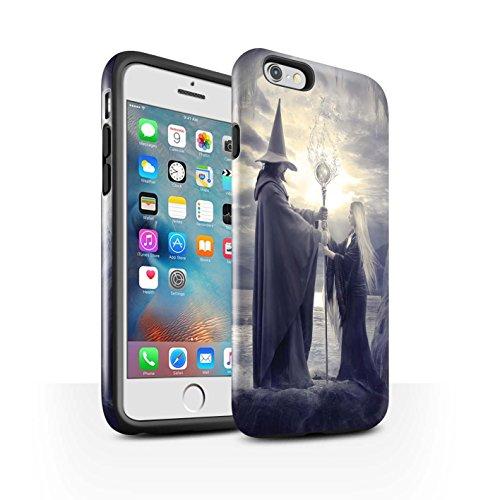 Officiel Elena Dudina Coque / Brillant Robuste Antichoc Etui pour Apple iPhone 6S+/Plus / Somnambule/Insomnie Design / Magie Noire Collection Maestro/Sorcier