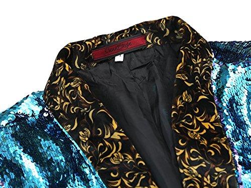 Herren Blitzende Smokingjacke Sakkos Anzugjacke von Allthemen Blau&Lila