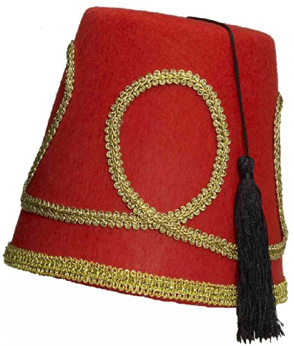Deluxe Red Fez Hat One Size Fits Most