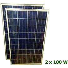 2 X Panel solar fotovoltaico de 100 watios 12V PERLIGHT