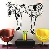 Wandaufkleber Kinderzimmer Wandaufkleber Schlafzimmer Karate Fighter Martial Sport Sticker für Schlafzimmer Wohnzimmer