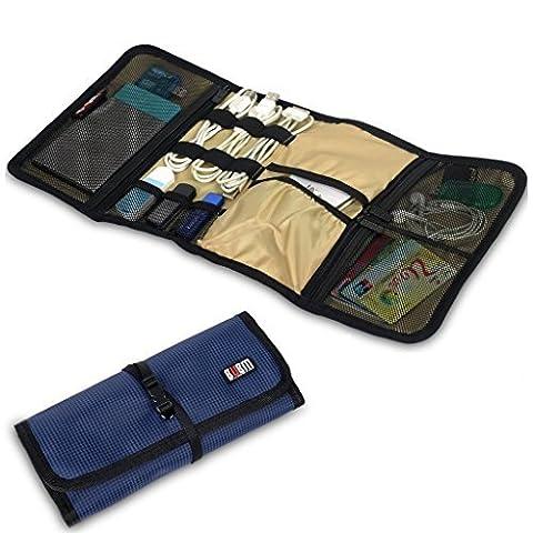 BUBM Kopfhörer Tragbar Universal aufrollbare Elektronik Zubehör Travel Organizer Festplatte