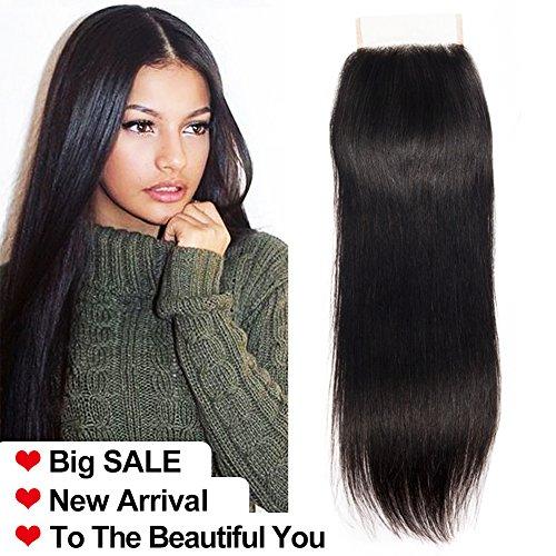 LA 25cm-50cm Lace Closure Human Hair Remy Virgin Brazilian Hair Closure natürliches brasilianisches haare menschliches haar 4 x 4 Free Part Lace Frontal Closure brasilianische haare glatte 25cm