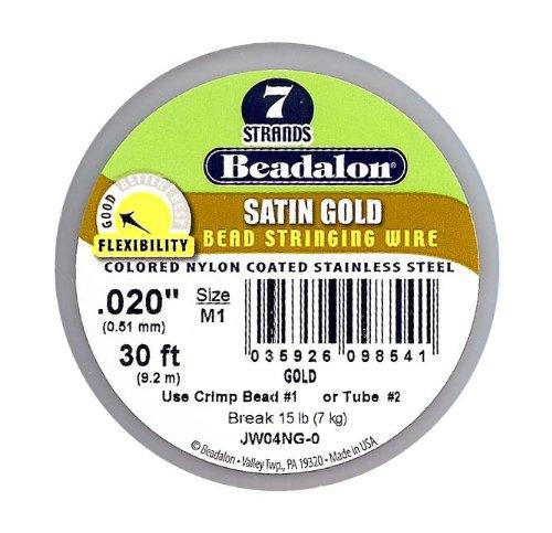 Beadalon Schmuckdraht, 020 7 Stränge Goldfarben satiniert Zoll/914,4 cm (Beadalon 7 Strang)