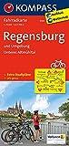 Regensburg und Umgebung - Unteres Altmühltal: Fahrradkarte. GPS-genau. 1:70000: Fietskaart 1:70 000 (KOMPASS-Fahrradkarten Deutschland, Band 3104) -