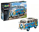 Revell Maqueta Volkswagen VW T1 Samba Bus Flower Power, Kit Modelo, Escala 1:24 (07050), 18,1 cm de Largo